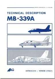 Aermacchi MB-339 A Aircraft Technical Brochure  Manual - 1982 -  ( English Language ) P.I. TO-01-386A