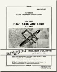 North American Aviation F-82 F, G and H Aircraft Flight Manual 01-60JJB-1 - 1949