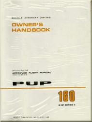 Beagle PUP 160  Aircraft Owner's  Handbook  Manual -  Approved Flight Manual -  1968