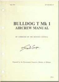 BAe / Beagle / Scottish Aviation Bulldog  T Mk.1 Aircraft Aircrew  Manual -