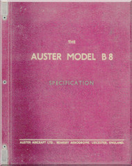 Auster B.8   Aircraft Specification  Manual