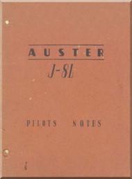 Auster J-8L Aircraft Pilot's Note Manual