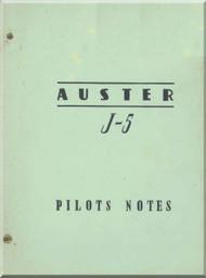 Auster  J-5 Aircraft Pilot's Note Manual