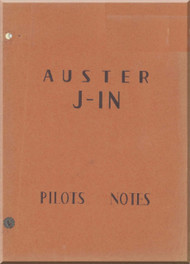 Auster  J-1N Aircraft Pilot's Note Manual