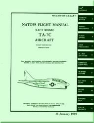 "LTV / Vought TA-7C "" Corsair II  ""  Aircraft Flight  Manual 01-45AAF-1 - 1979"