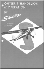 Luscombe  Model Silvaire 8 A standard and Special  Aircraft  Owner's of Operation Manual