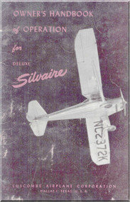 Luscombe  Model Silvaire 8 A Special  Aircraft  Owner's of Operation Manual