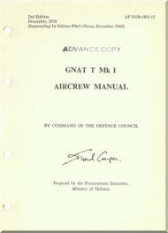 Foland Gnat T  Mk 1 Aircraft  Aircrew  Manual -  ( English Language ) - AP 101B-1801-15