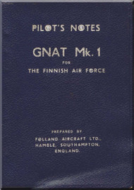 Foland Gnat  T Mk.1 Aircraft  Pilot's Notes Manual for The Finnish Air Force