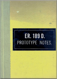 Hunting  Percival  H.126 / ER. 189 D Aircraft  Prototype Note   Manual