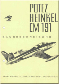 Potez /  Heinkel CM.191   Aircraft Specification   Manual - Baubeschreibung- (  German  Language )