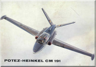 Potez Heinkel CM.191  Aircraft Technical   Brochure  Manual -  (  German  Language )