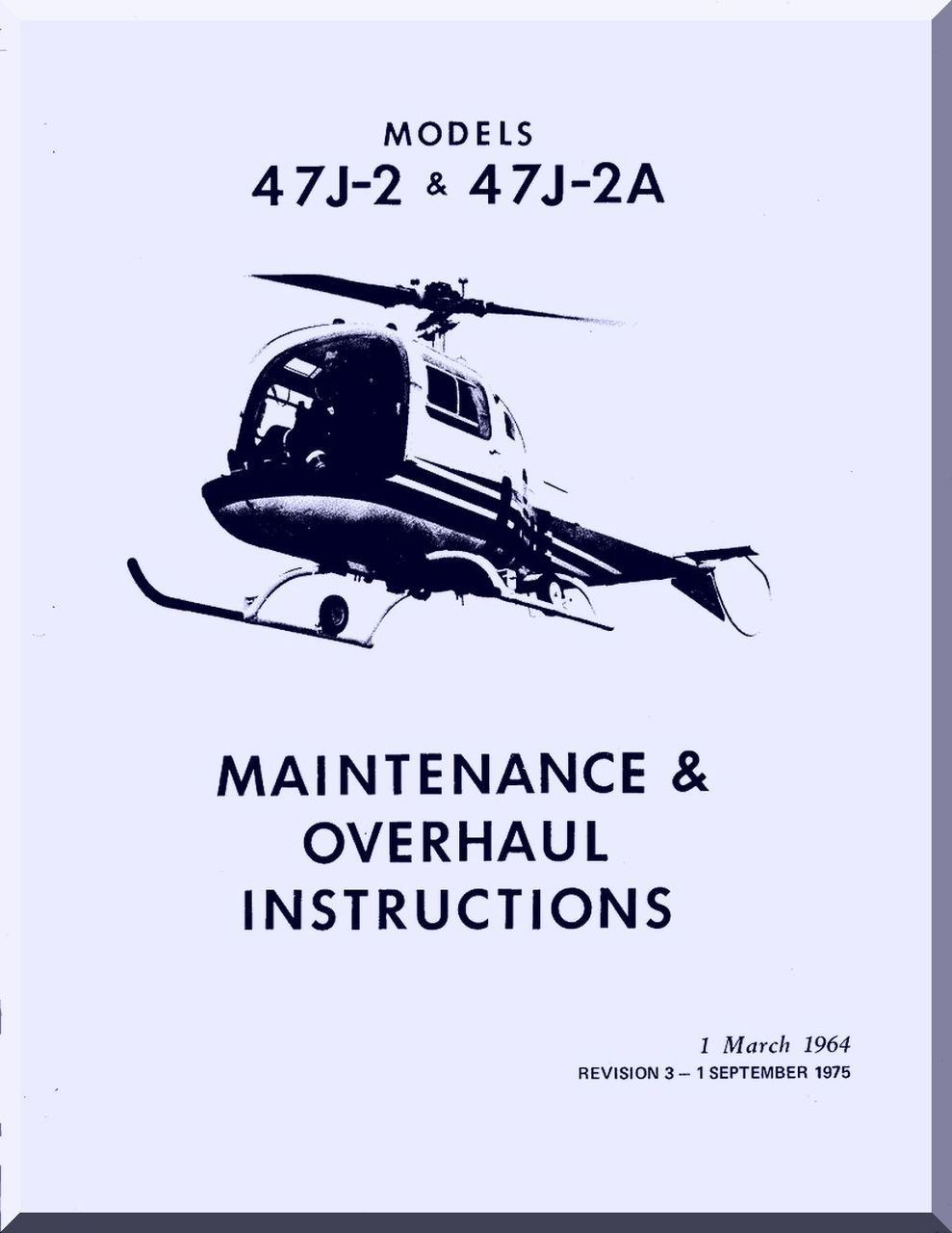 Bell Helicopter 47 J 2 2a Overhaul And Maintenance Manual 1964 Parts Diagram Image 1