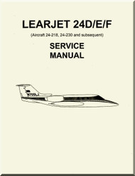 Learjet 24  D / E / F Series Aircraft Service Manual
