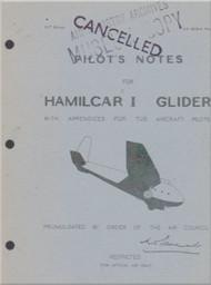 General Aircraft G.A.L. 49 Hamilcar Glider   Aircraft Pilot's Note Manual