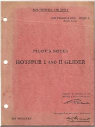 General Aircraft G.A.L. 48 Hotspur  Glider   Aircraft Pilot's Note Manual