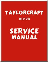 Taylorcraft   BC12D  Aircraft Service  Manual ,