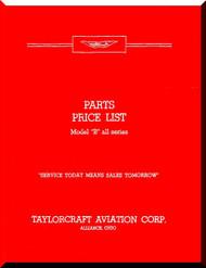 Taylorcraft   B Aircraft Part Price List  Manual ,