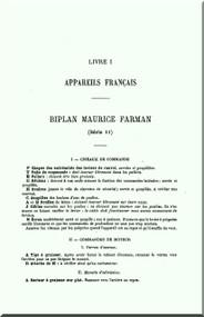 Maurice Farman MF.7 Longhorn   Aircraft Technical Manual  ( French Language )