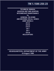 Aviation Unit Maintenance and Aviation Intermediate Maintenance Manual  - for General Tie-Down and Morning on All Series Army Models , AH-64, UH-60, CH-47, UH-1, AH-1, OH-58 Helicopters - TM 1-1500-250-23