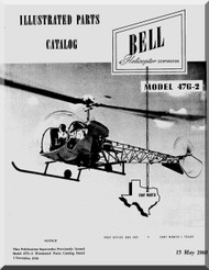 Bell Helicopter 47 G-2 Illustrated Parts Catalog  Manual  - 1960