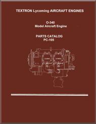 Lycoming O-340 Aircraft Engine Parts Manual   PC-105
