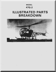 Bell Helicopter 47 G-2 Illustrated Parts Catalog  Manual  - 1977