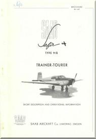 SAAB 91 B Safir Aircraft Technical Brochure Manual -