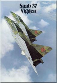 SAAB  37   Viggen  Aircraft Technical Brochure Manual -