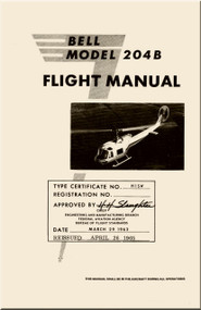 Bell Helicopter 204 B  Flight Manual - 1963