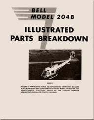 Bell Helicopter 204 B  Illustrated Parts Breakdown Manual -