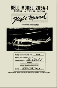 Bell Helicopter 205 A-1  Flight Manual - SN 30053 Thru 30127 - 1968 - BHT-205A1-FM-2