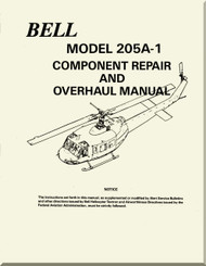 Bell Helicopter 205 A-1  Component Repair and Overhaul  Manual -