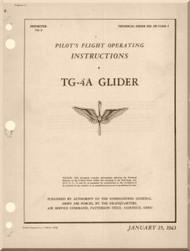 Laster Kauffman  TG-4A  Glider Aircraft Pilot's Handbook Instructions  Manual  - 1943