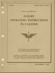 Aeronca  TG-5  Glider Aircraft  Operating  Instructions  Manual  - 1942