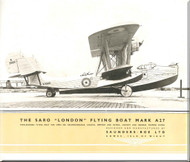 Saunders Roe  ( SaRo ) London  II Aircraft  Technical Brochure Manual