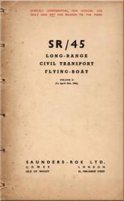 Saunders Roe  ( SaRo ) Princess SR/45 Aircraft  Long-Range Civil Transport Flying Boat   Manual - Volume II