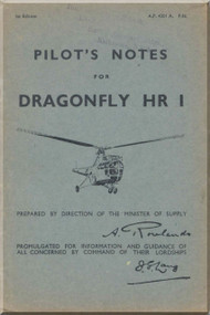 Westland - Sikorsky Dragonfly H. R. I  Helicopter Pilot's Notes Manual A.P. 4301A -PN