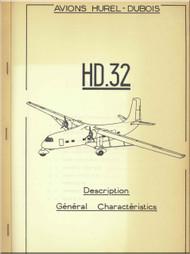 Avions Hurel - Dubois HD.32   Aircraft  Description General  Characteristics  Manual