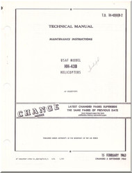 KAMAN HH-43 B  Helicopter Maintenance Instructions  Manual - T.O. 1H-43(H)B-3 -1963