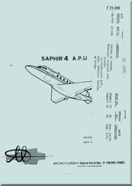 Microturbo Saphir 4  Auxiliary Power Unit Maintenance   Manual - 1971