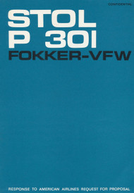 Fokker - VFW  P 301  Aircraft   Technical Report  Manual -