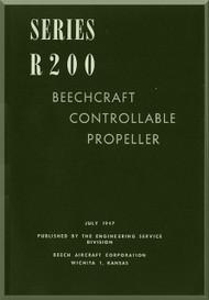 Beechcraft R 200 Propellers Instruction Manual - 1947