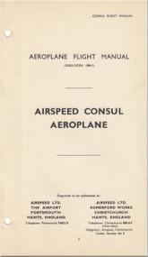 Airspeed Consul  Aircraft Aeroplane Flight Manual