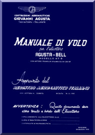 Agusta Bell Helicopter 47 G  Flight  Manual  ( Italian Language  )
