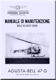 Agusta Bell Helicopter 47 G  Maintenance Manual  ( Italian Language  ) -  Manutenzione , 1955