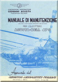 Agusta Bell Helicopter 47 G  Inspection and Maintenance Manual  ( Italian Language  ) - Ispezione and Manutenzione , 1955