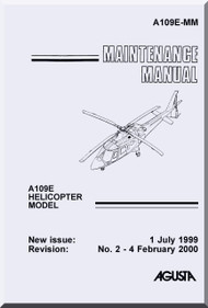 Agusta A.109 E  Maintenance  Manual  ( English Language  )