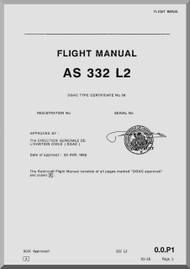 Aerospatiale AS 332 L2  Super Puma  Helicopter Flight Manual  ( English Language )