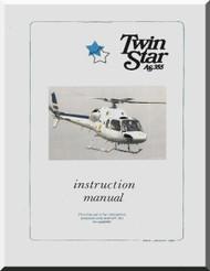 Aerospatiale AS 355 Helicopter Instruction Manual  ( English Language )